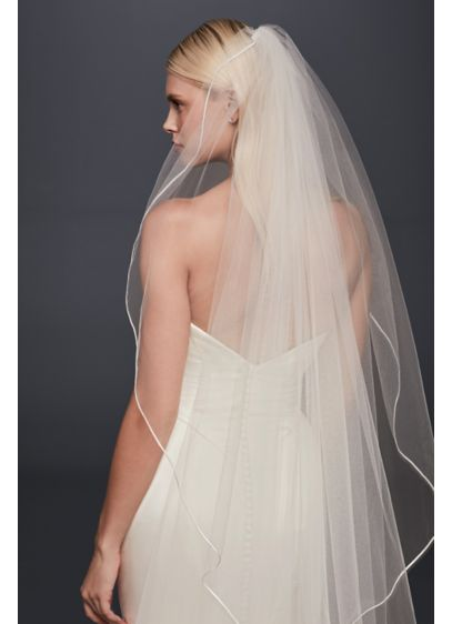 Truly Zac Posen Pencil Edge Cathedral Veil - Wedding Accessories