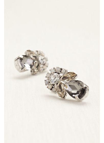 Teardrop Half Circle Opal Earrings - Wedding Accessories