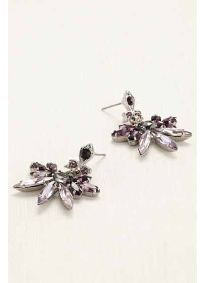 Modern Crystal Statement Earrings - Wedding Accessories