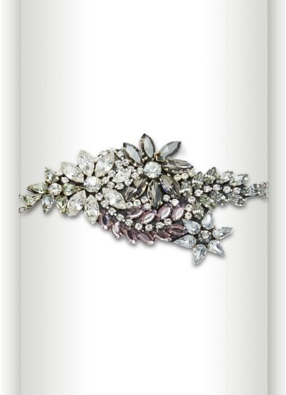 Organic Floral Design Crystal Bracelet - Wedding Accessories