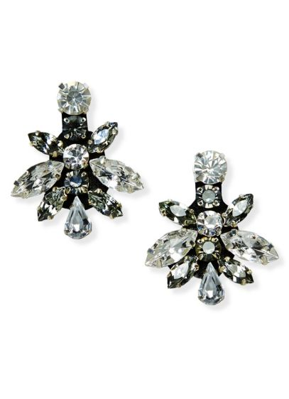 Bold Mixed Crystal Geometric Earrings - Wedding Accessories