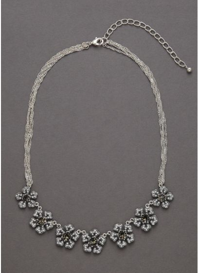 Crystal Floral Necklace - Wedding Accessories