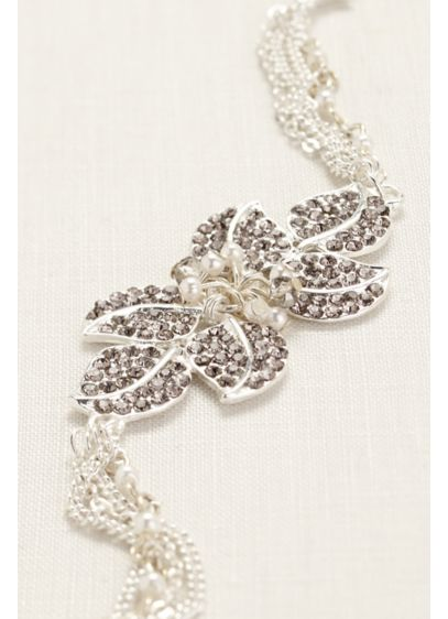 Chain Link and Crystal Bracelet - Wedding Accessories