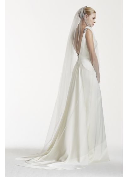 Truly Zac Posen Chapel Veil with Crystal Comb - Wedding Accessories