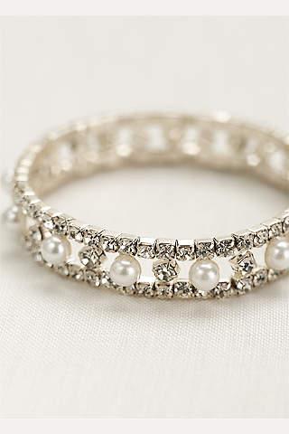 Pulsera Stretch de Cristales y Perlas Alternadas