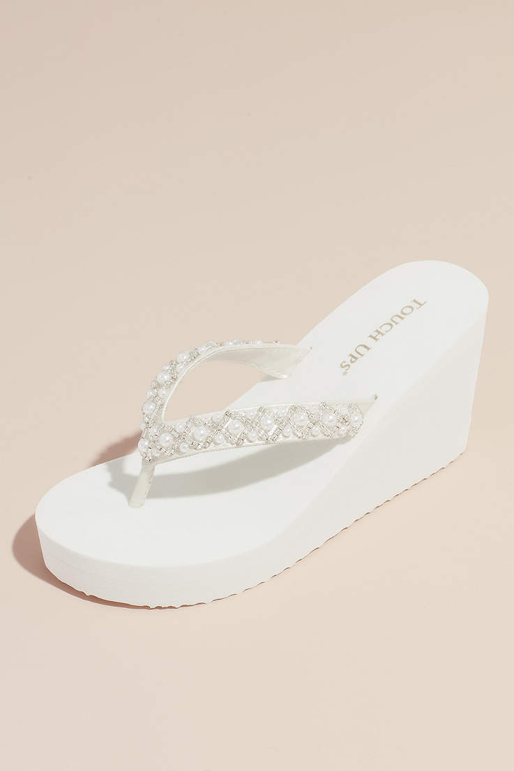 9ce7fb5bb2 Touch Ups Grey;White Wedge Shoes (Touch Ups Shelly Wedge Sandal)