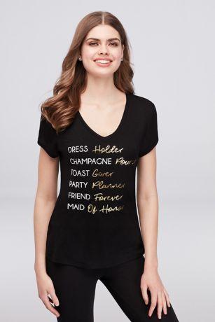 Maid of Honor Duties T-Shirt
