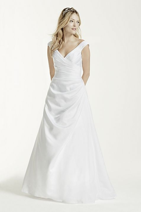 Off The Shoulder Wedding Dress With Side Draping
