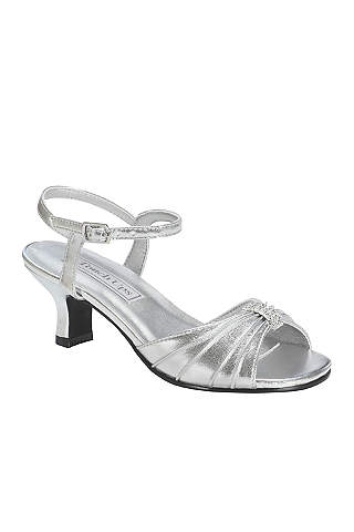 Flower girl shoes girls dress shoes davids bridal touch ups grey flowergirl shoes talia girls silver metallic sandal by touch mightylinksfo