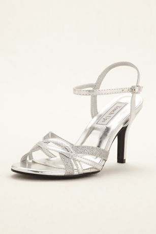 Touch Ups Grey;Yellow Heeled Sandals (Taryn Strappy Sandal by Touch Ups)