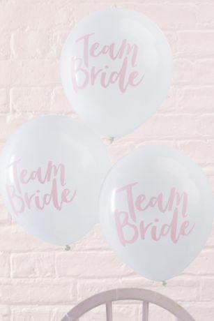 Pink Script Team Bride Balloons