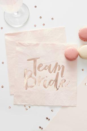 Rose Gold Team Bride Napkins