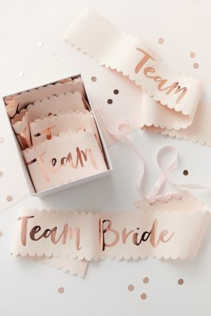 Rose Gold Team Bride Sash Set of 6