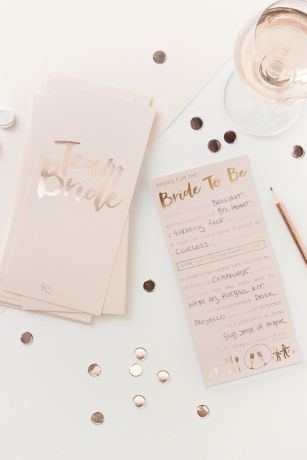 Rose Gold Advice for the Bride to Be Cards