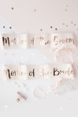 Mother Of The Bride and Groom Sash Set