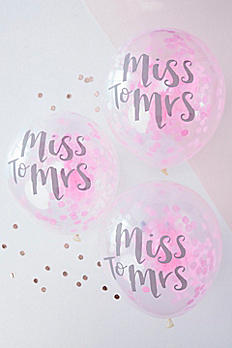 12 Inch Pink Miss to Mrs Balloons Pack of 5 TB-627
