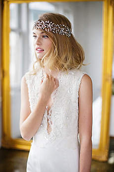 Floral Marquise Crystal Halo with Ribbon Tie
