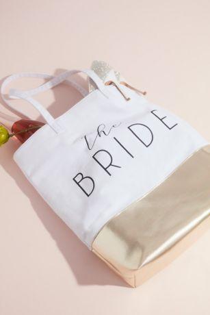 The Bride Metallic Color Block Tote Bag