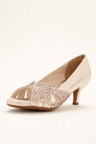 Dyeables Grey Pumps Tracy Crystal P Toe Pump
