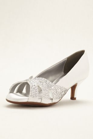 02ac1e1dc88 Dyeables White Pumps (Tracy Dyeable Crystal Peep Toe Pump)