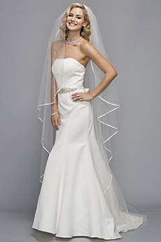 Satin-Trimmed Cathedral Veil
