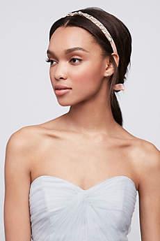 Halo Crystal and Ribbon Headband