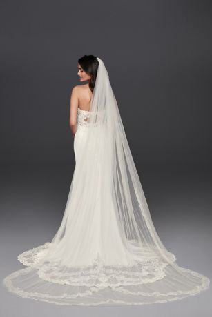 Double Tier Lace Cathedral Veil