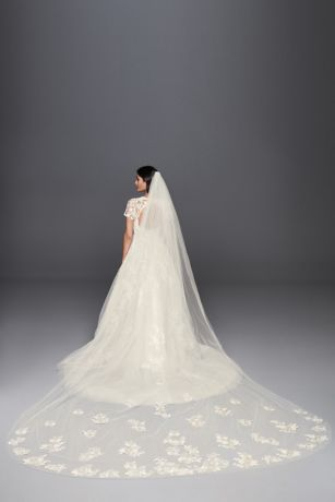 aa38a4ac1 Cathedral Veils: Lace, Blushers & More | David's Bridal