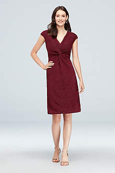 Short Sheath Cap Sleeves Cocktail and Party Dress - Ronnie Nicole