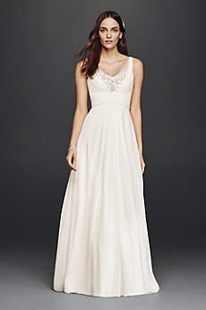 Tank A-Line Wedding Dress with Embellished Bodice