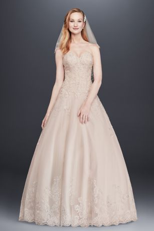 Long Ballgown Strapless Dress - Jewel