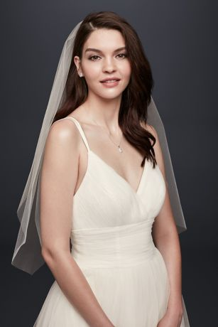 0c2904f9658 One-Tier Blusher Veil · David s Bridal