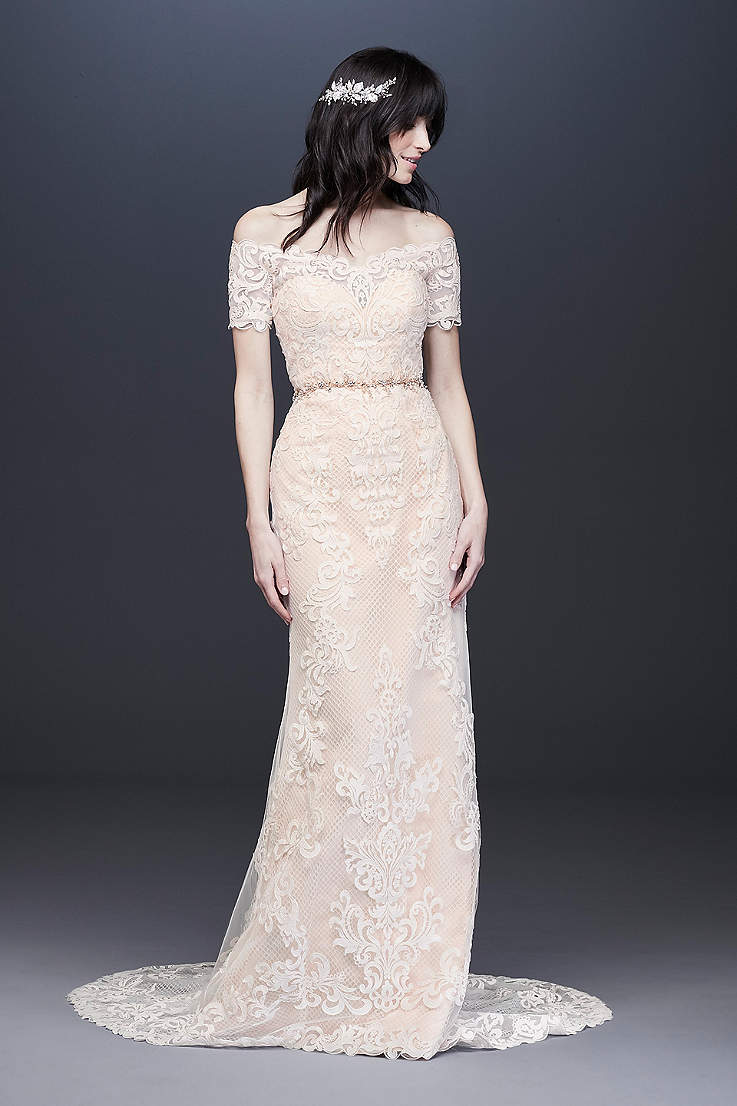 5cde2751eb7 Long Sheath Wedding Dress - Galina