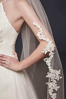 Corded Lace Edge Cathedral Veil