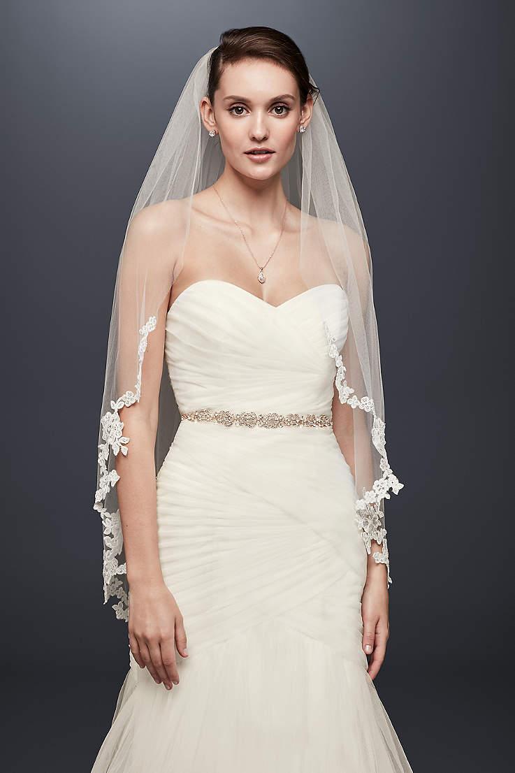 Mid Length Wedding Veils Davids Bridal
