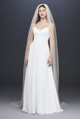 Beaded Scallop-Edged Cathedral Veil