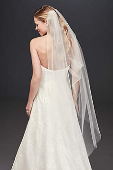 Single-Layer Tulle Drape Veil