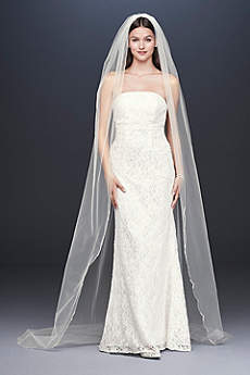 Pearl Crystal Cluster Scallop-Edge Cathedral Veil