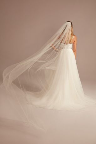 Cathedral-Length Shimmer Tulle Veil