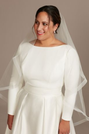 Tulle Fingertip Veil with Horsehair Trim