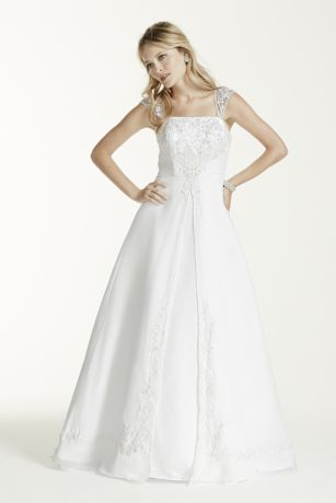 Petite A-line with Chiffon Split Front Overlay
