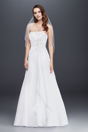 Chiffon A-line Wedding Dress with Side Draping