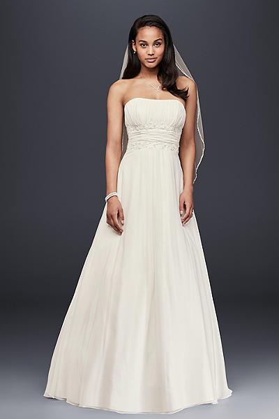 Soft Chiffon Wedding Dress with Empire Waist 4XLV9743