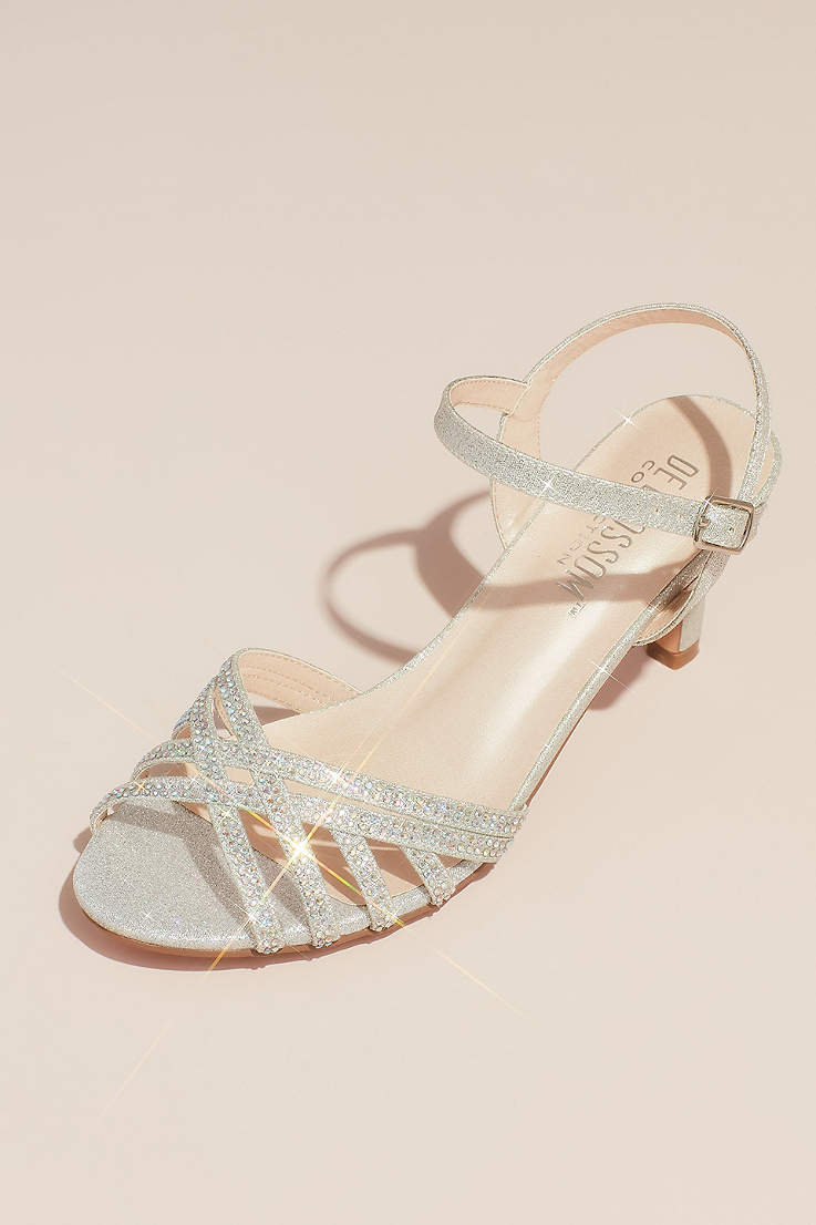 49f6b4322540 Blossom Beige;Grey;Pink Sandals (Crisscross Glittery Sandals with Crystals)
