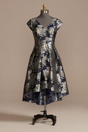 High Low Ballgown Short Sleeves Dress - David's Bridal
