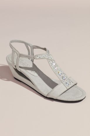 eb5831355d1 New York Transit Grey Wedges (Embellished Open Wedge Sandals)