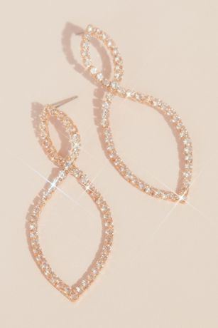 Infinity Loop Pave Rhinestone Earrings