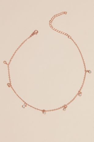 Delicate Choker Necklace with Dangling Motif