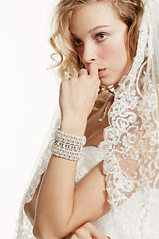 One Tier Heavily Embellished Cathedral Veil