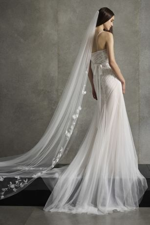 White by Vera Wang Embroidered Floral Veil